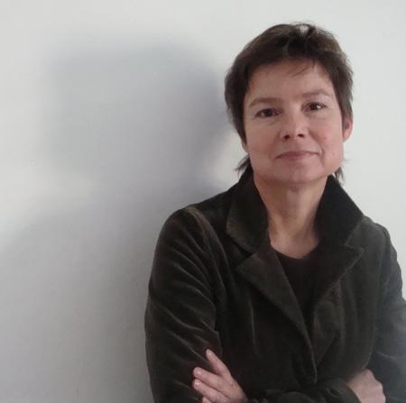Krystyna Chołoniewska w pociągu